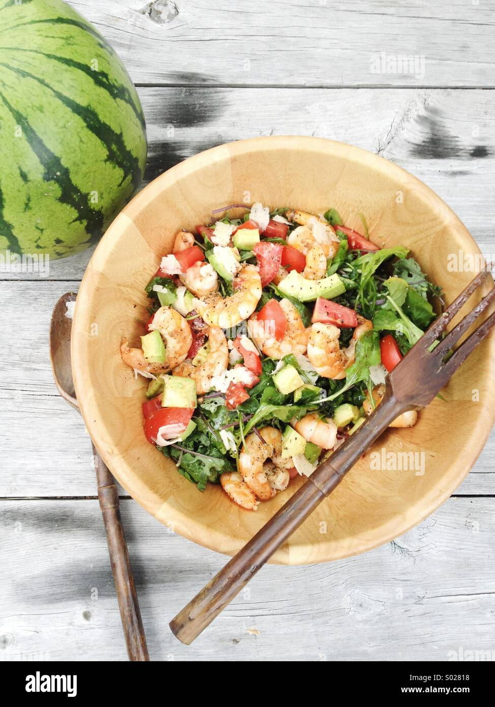 Summer salad in Cape Cod. - Stock Image