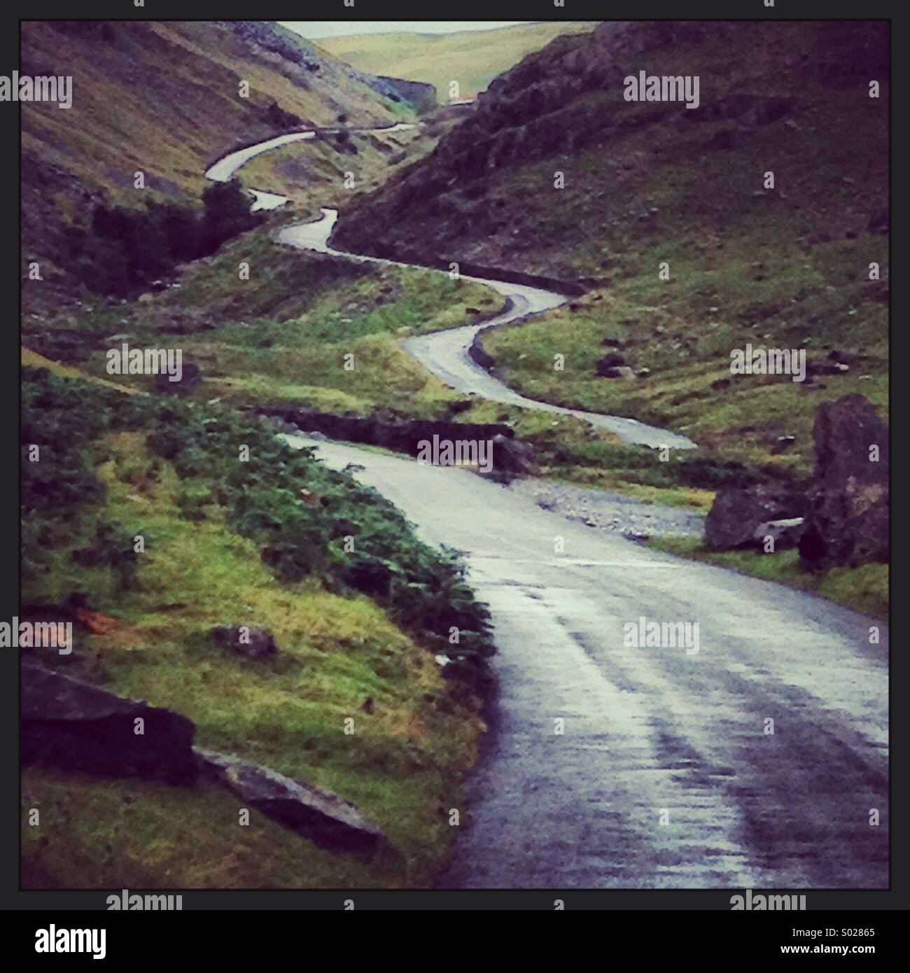 Honister Pass Lake District Cumbria - Stock Image