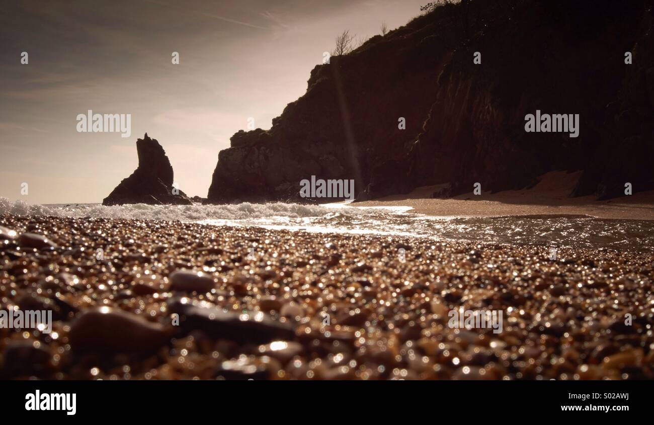 Blackpool sands devon - Stock Image