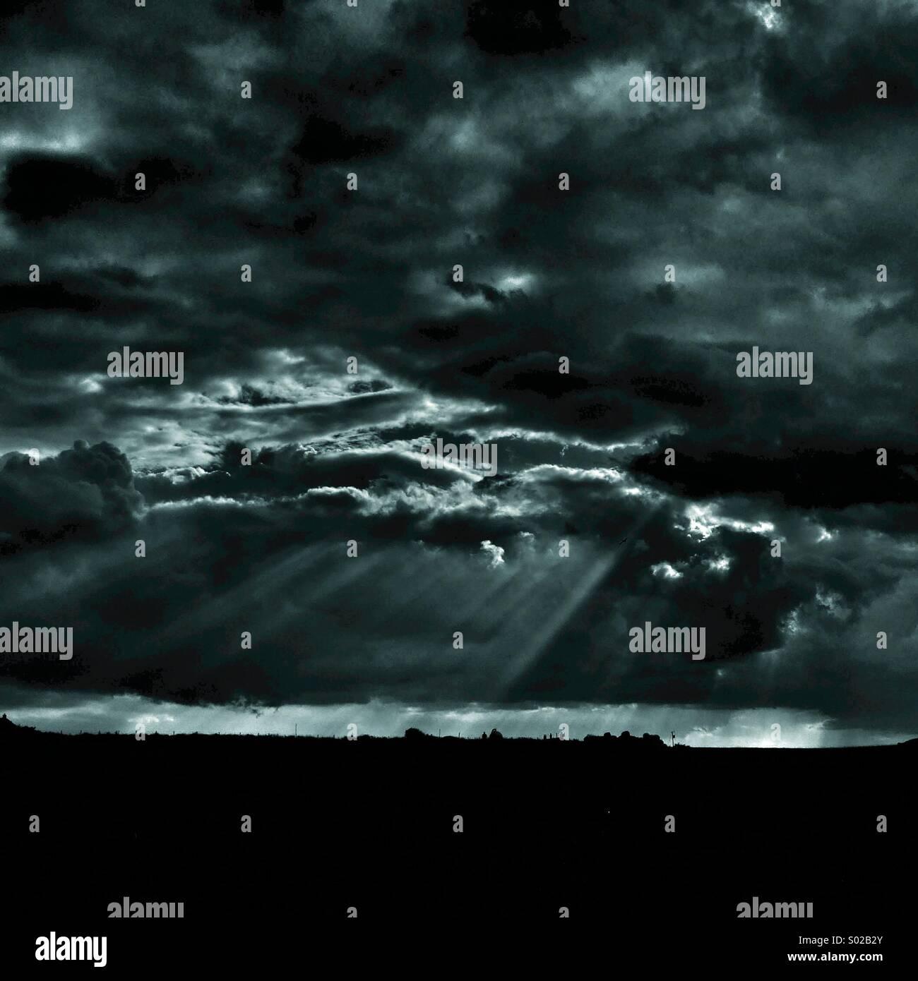 Dramatic sky - Stock Image