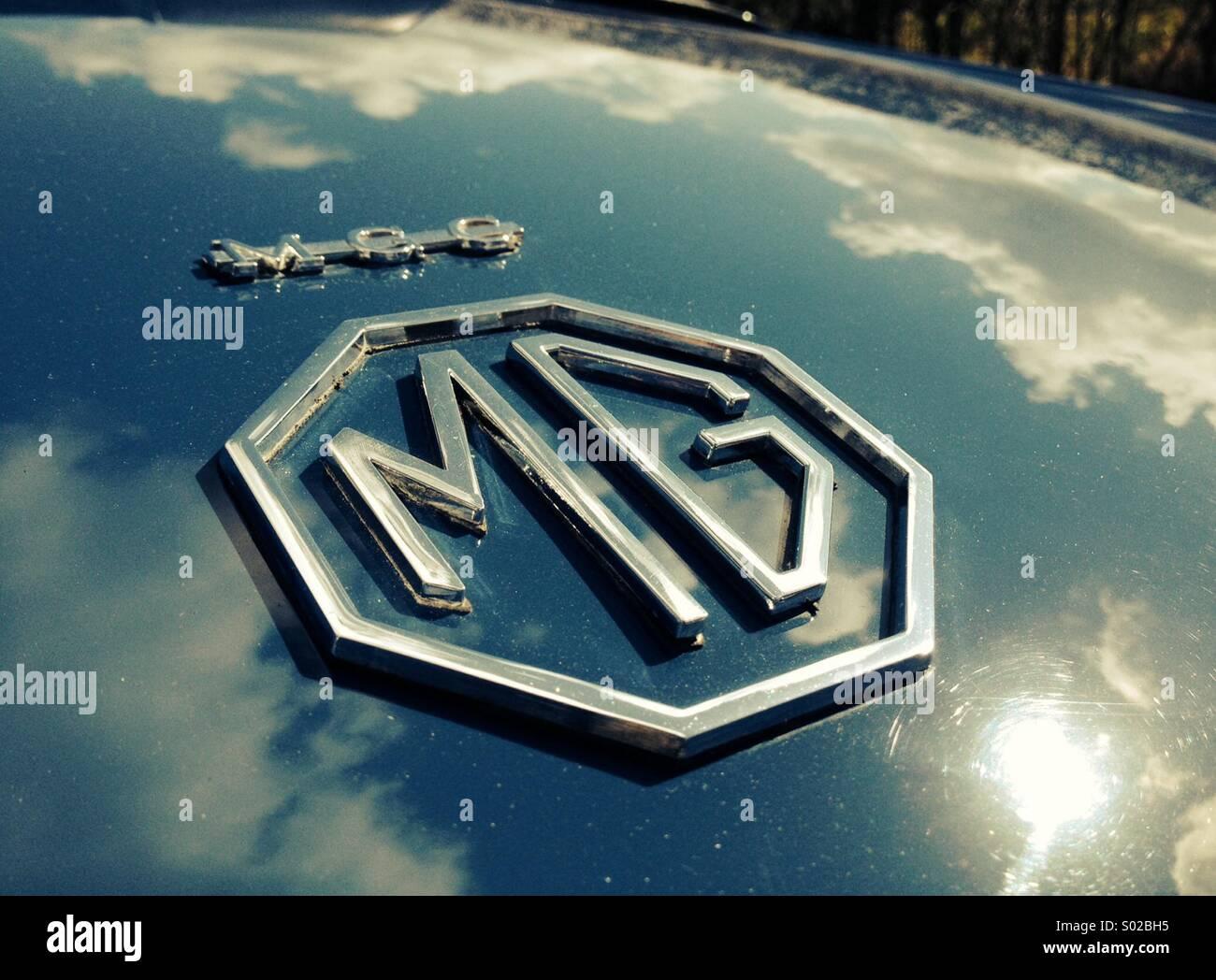 MG Classic Sports Car anteriore griglia Badge FOTOGRAFIA FOTO POSTER stampati
