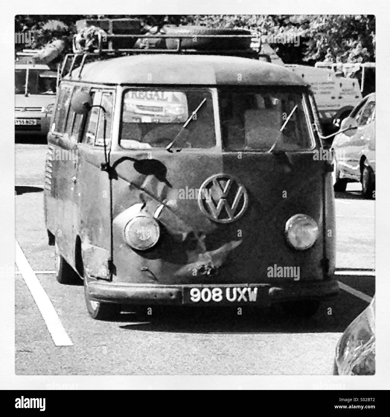 Old skool camper - Stock Image
