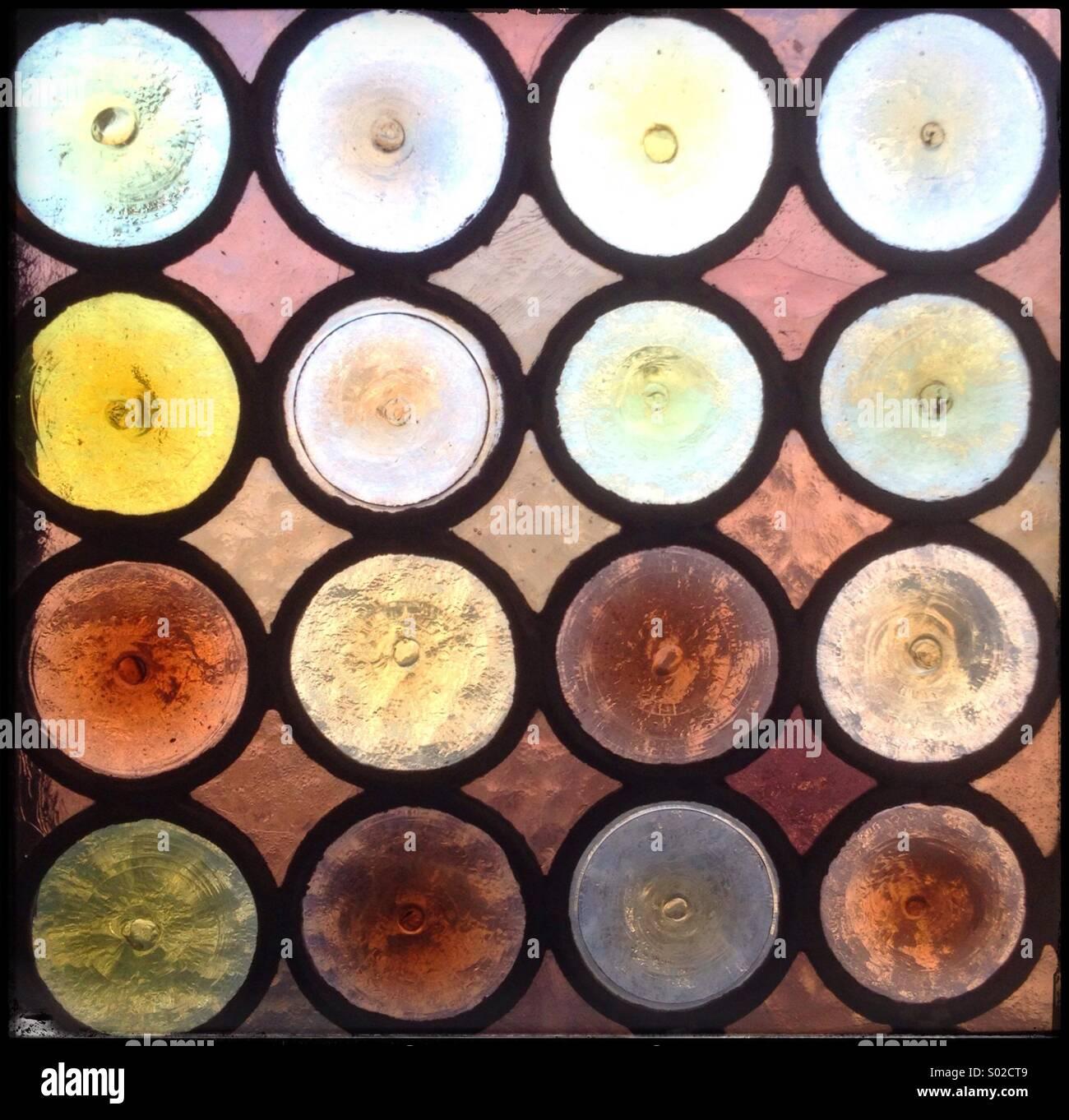 Coloured circles - Stock Image