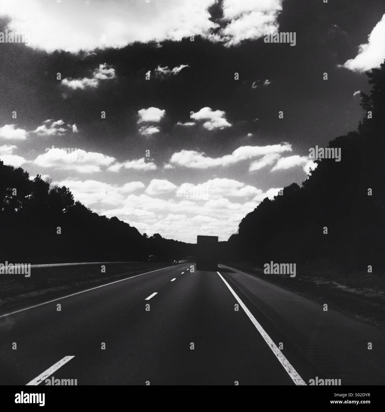 Driving through Alabama's freeways - Stock Image