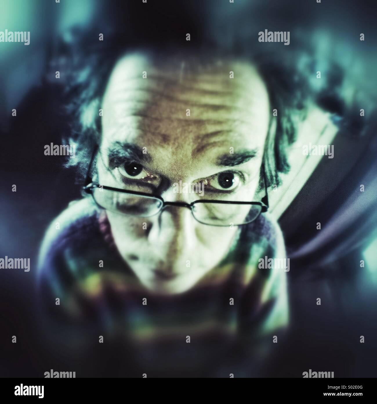 Geeky dude - Stock Image