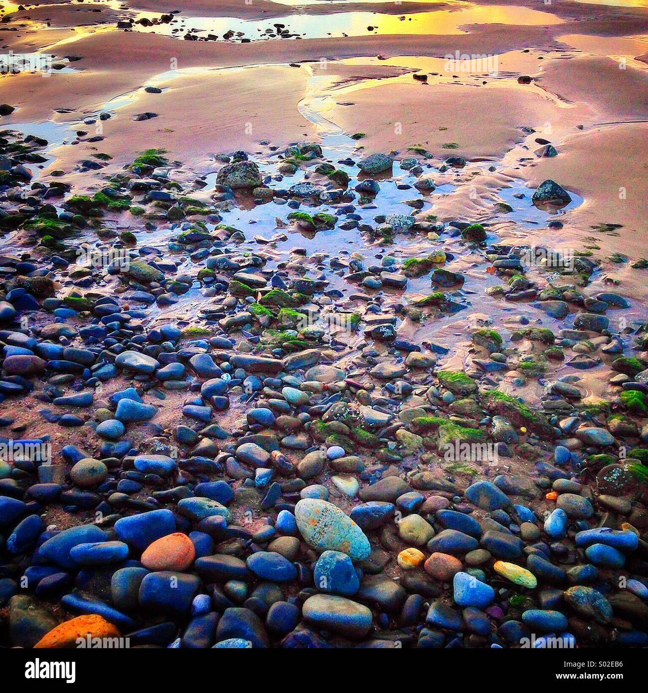 From stones to sand... - Stock Image