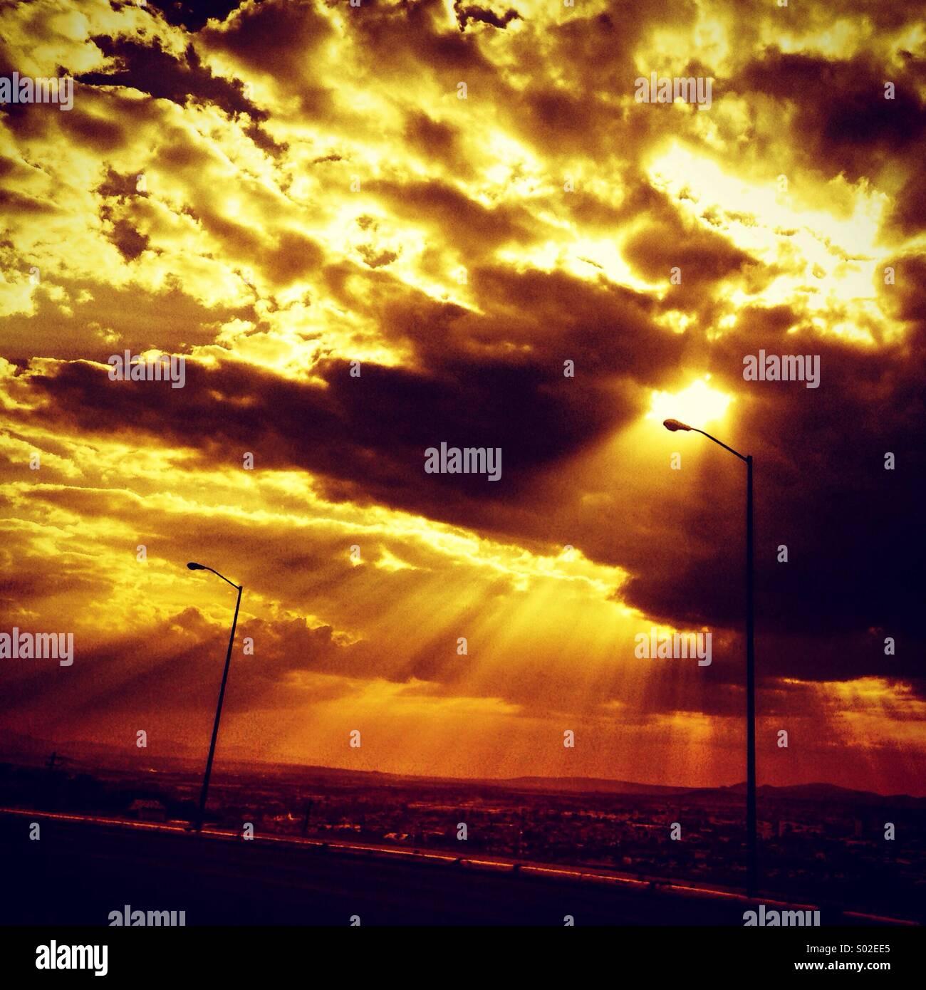 Querétaro luz sol - Stock Image