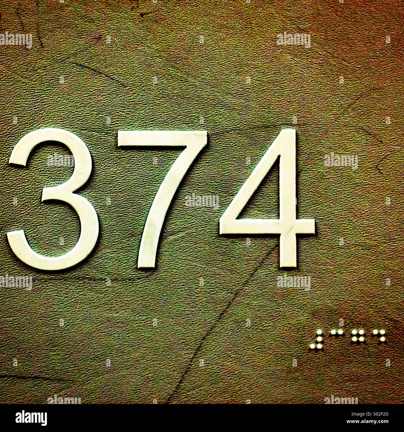 Numbers and Braille. - Stock Image