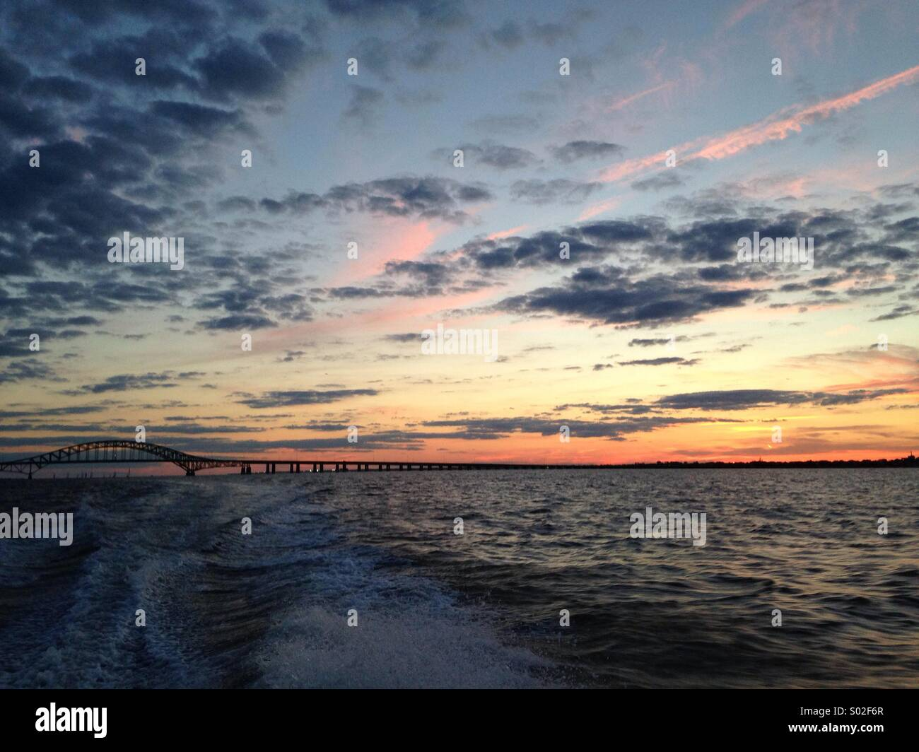 Sunset summer time - Stock Image