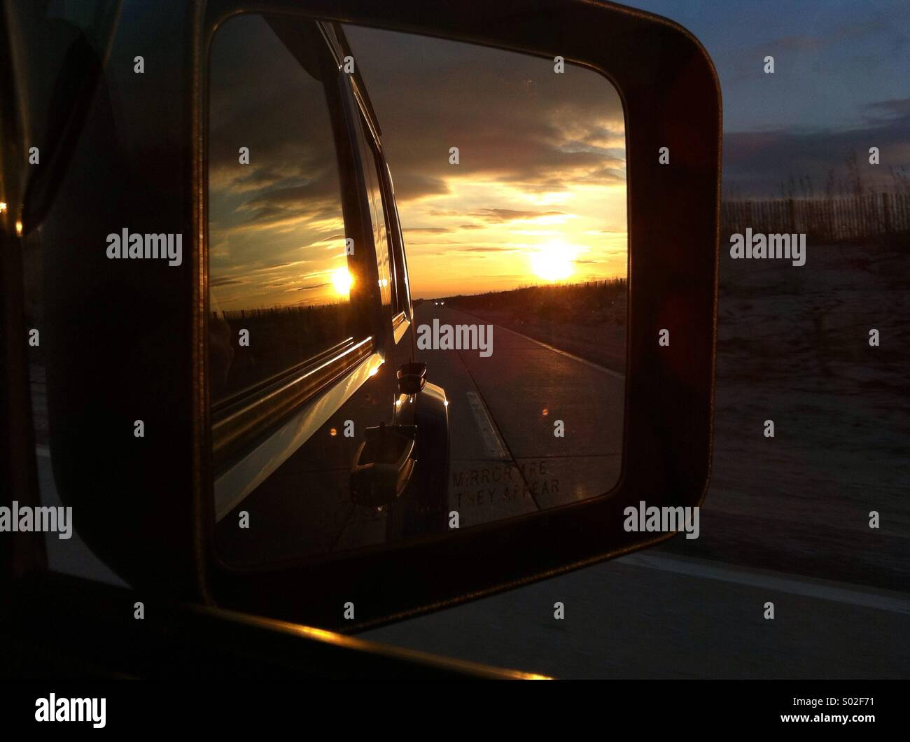 Jeep sunset - Stock Image