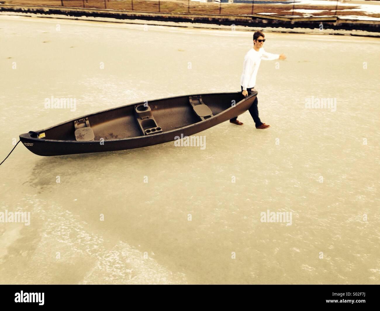 Walking on water - Stock Image