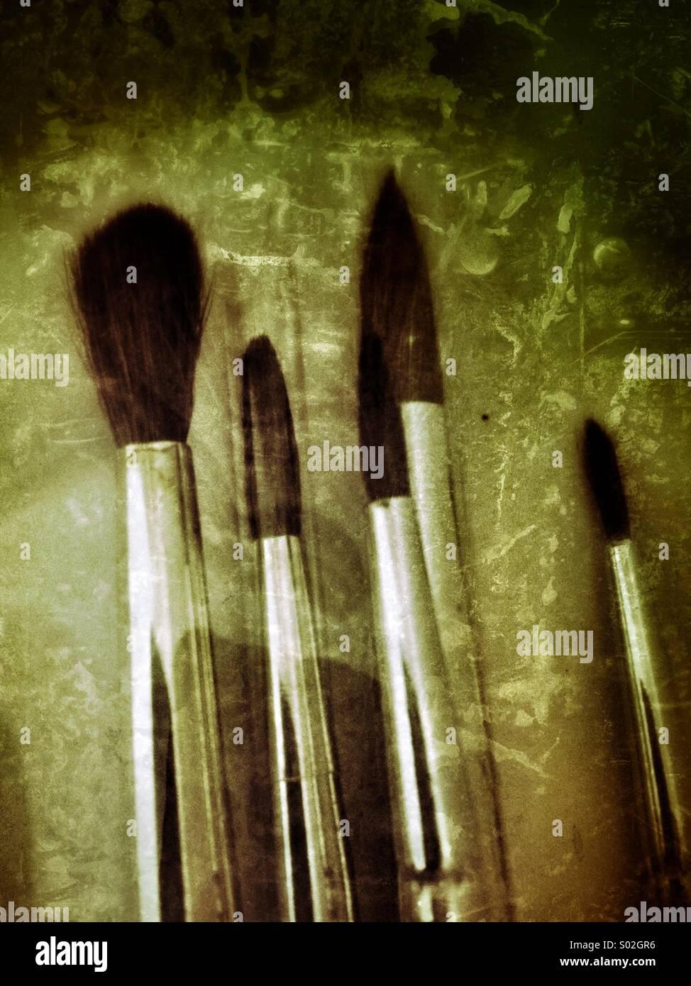 Artists Brushes - Stock Image