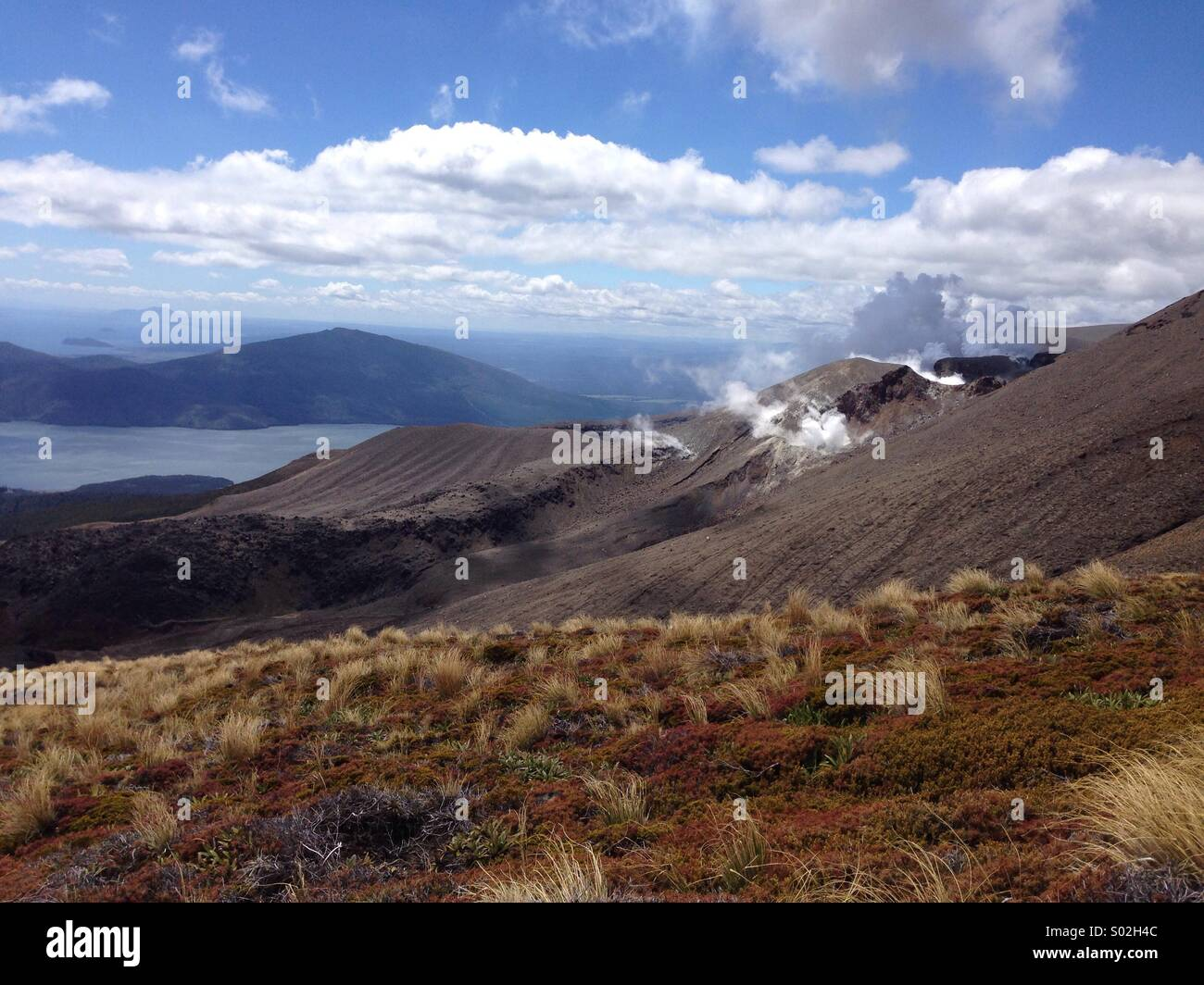 Volcanic activity on the Tongariro Crossing, New Zealand - Stock Image