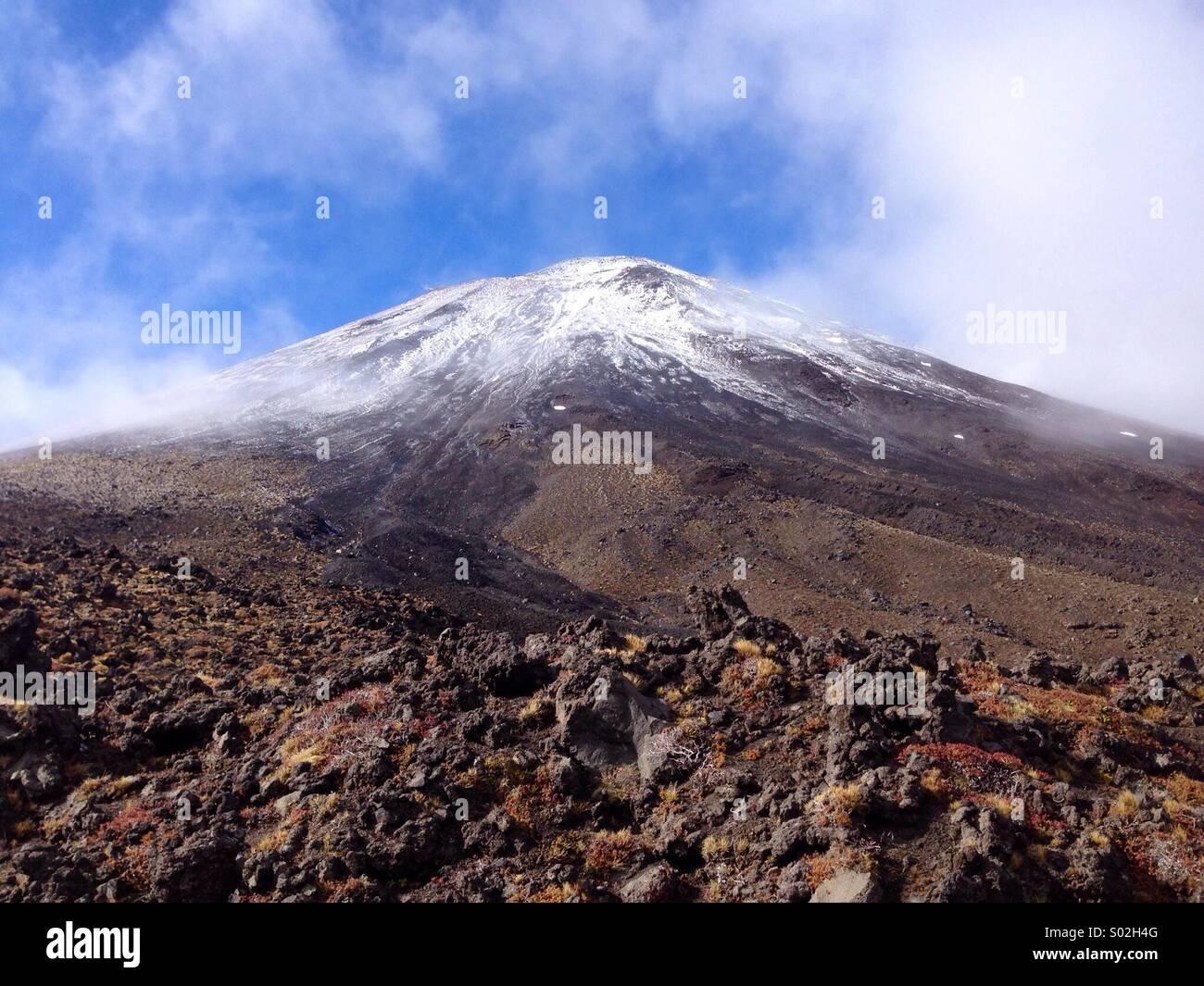 Mt Ngauruhoe on New Zealand's North Island - Stock Image