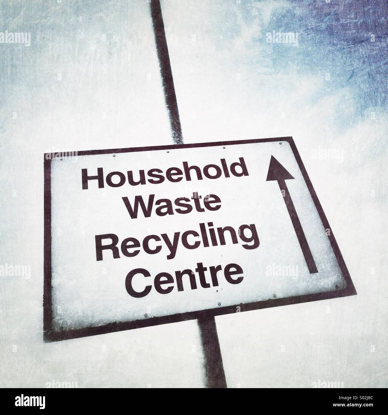 Household waste recycling centre sign - Stock Image