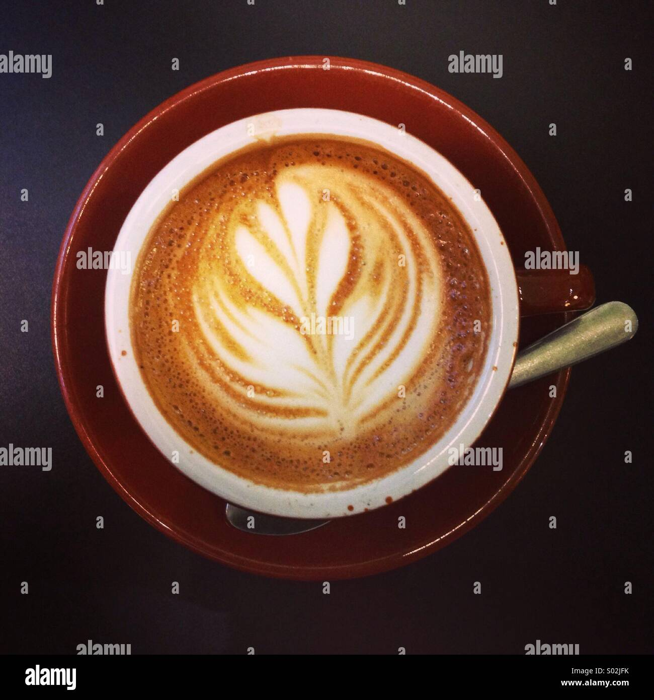Cappuccino pattern in the froth - Stock Image