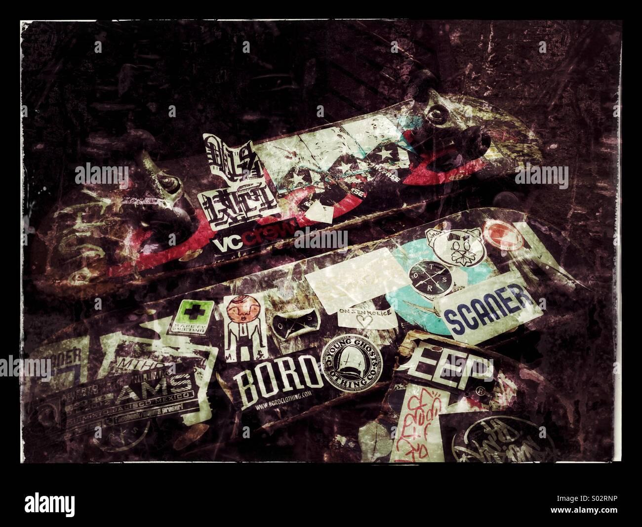 Skateboard generation - Stock Image