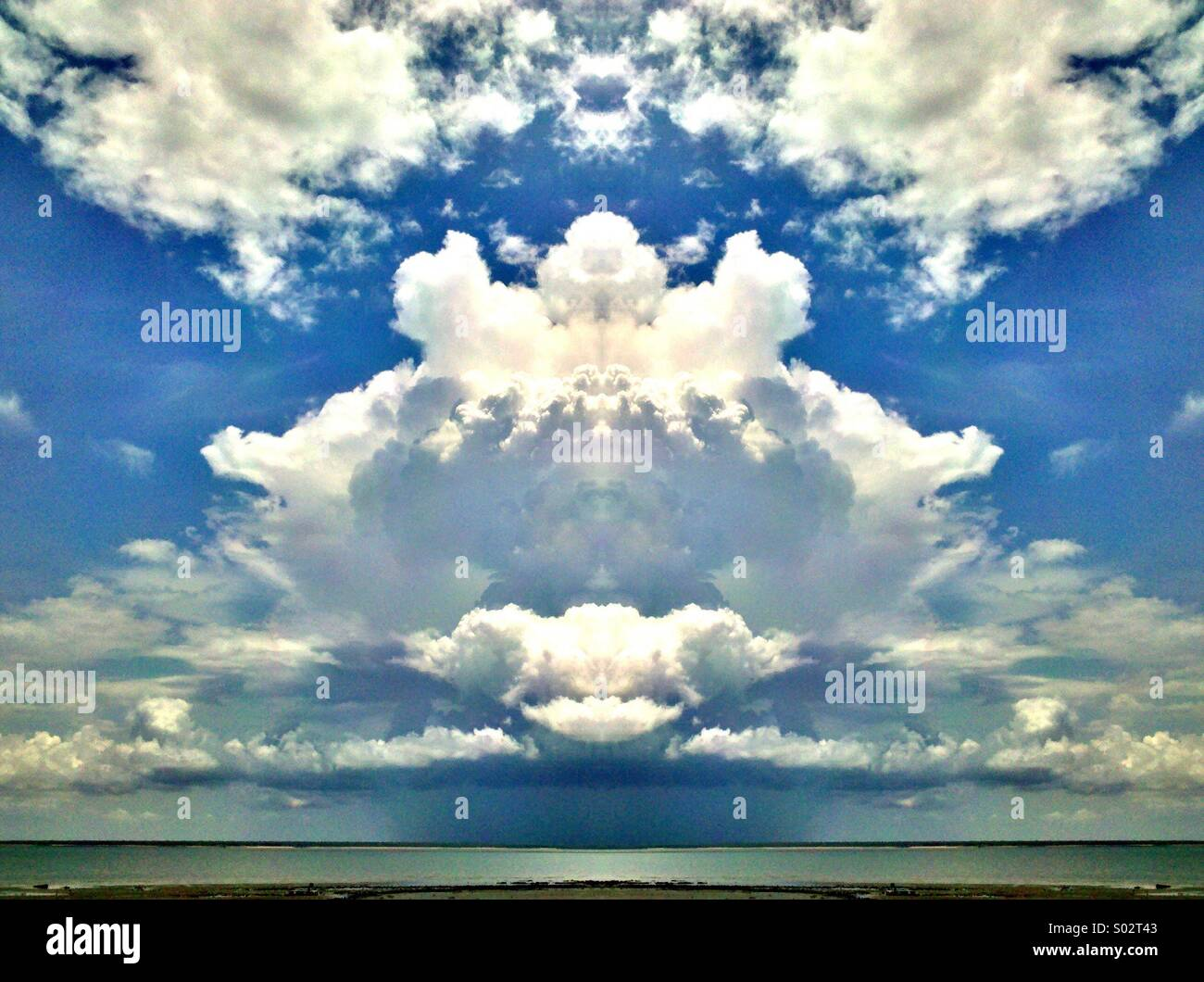 Manipulated clouds. - Stock Image