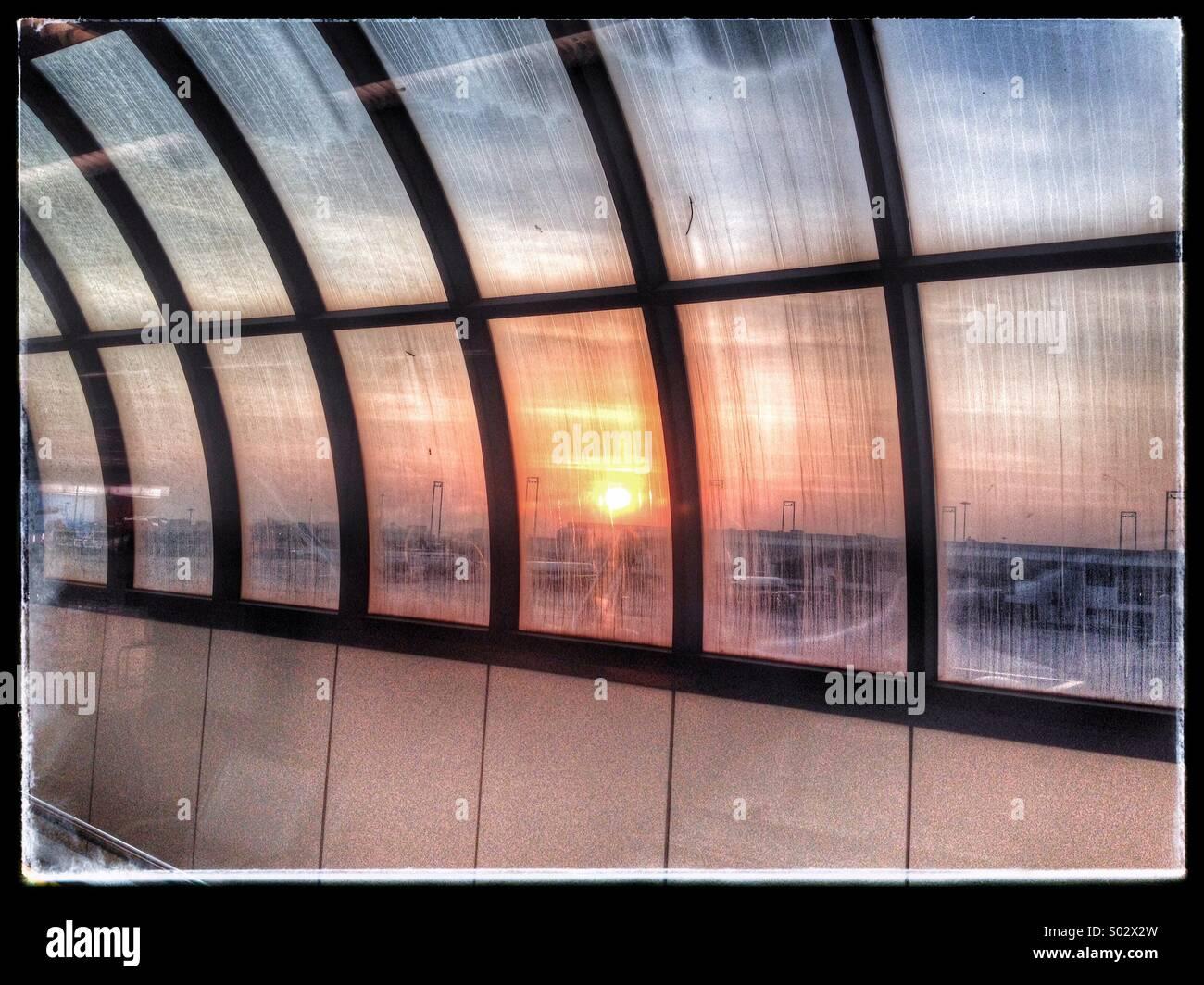 Fiumicino airport, Rome, Italy. - Stock Image