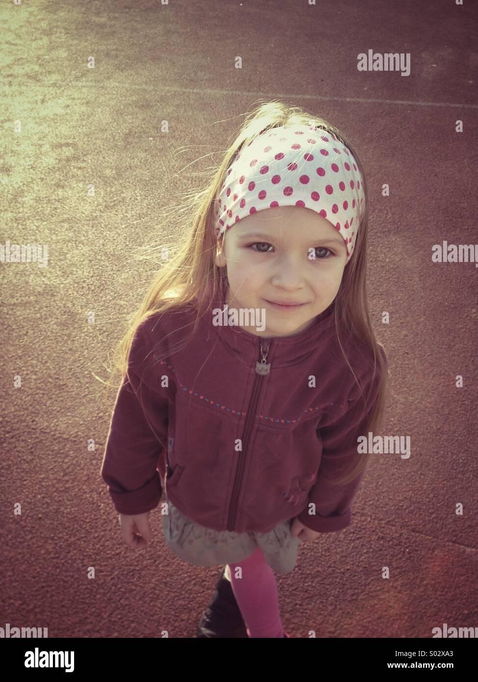Little girl portrait - Stock Image