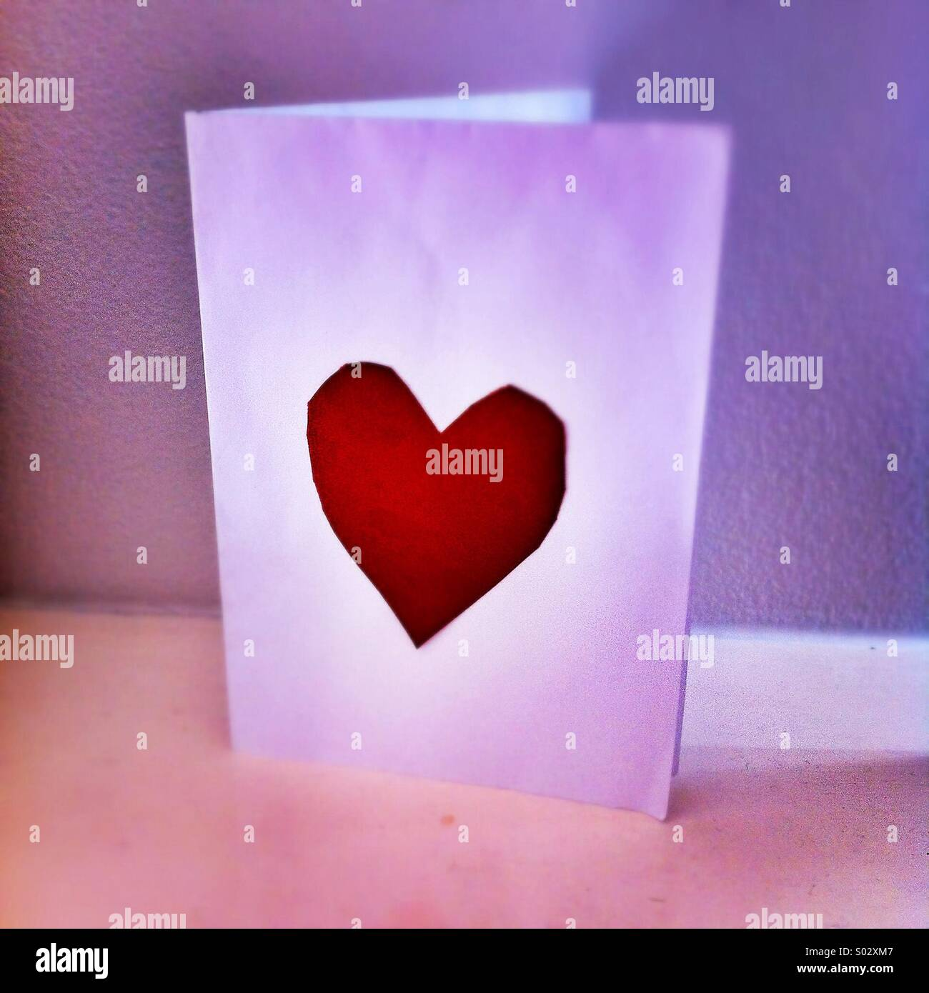 Valentines day card - Stock Image