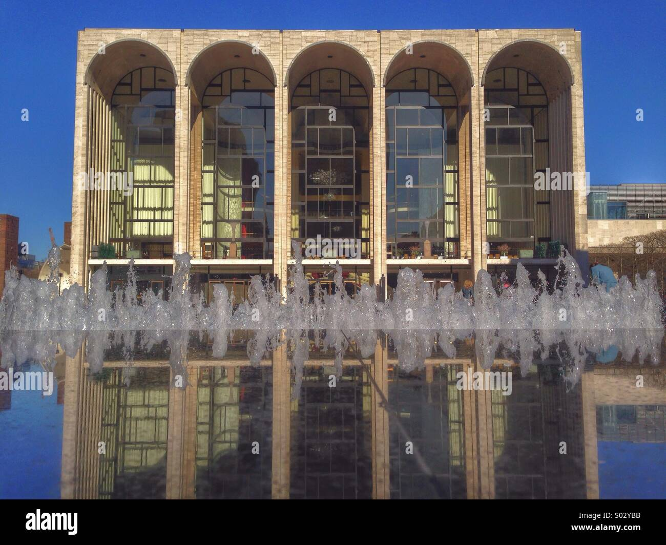 Metropolitan Opera House at Lincoln Center in New York City. - Stock Image