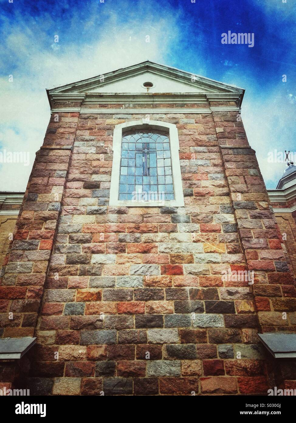 Part of church, found on the trip in Lithuania Stock Photo