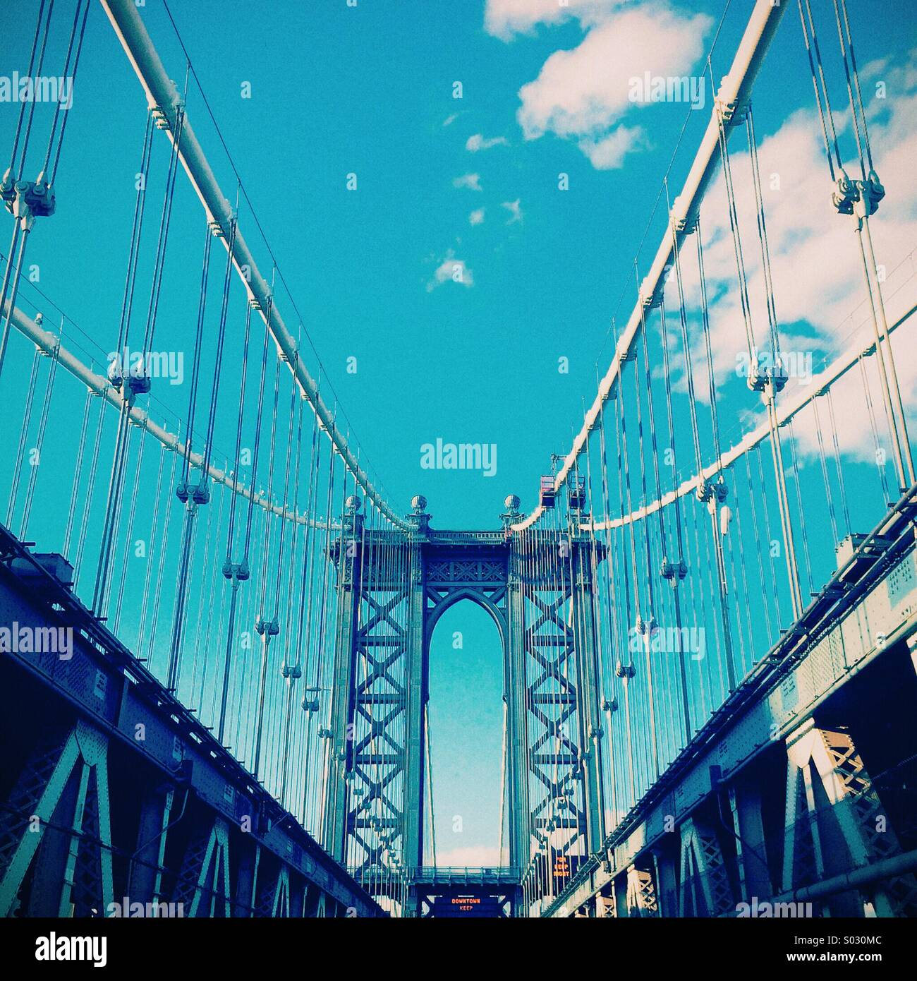 Manhattan Bridge - Stock Image