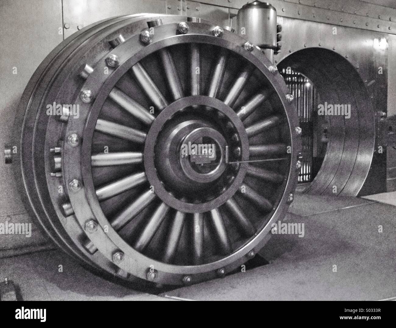 Bank Vault in Toronto, Canada - Stock Image