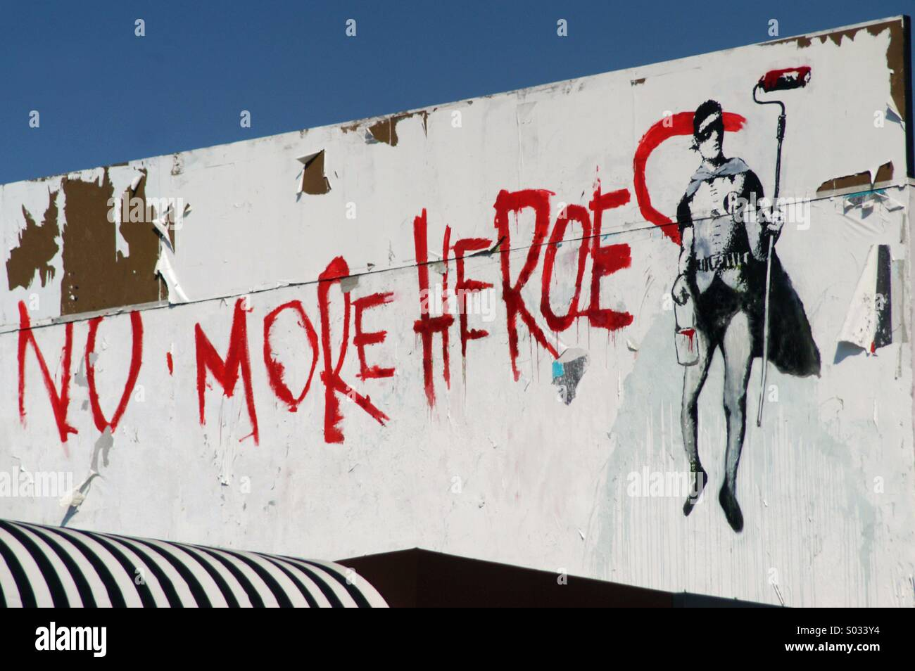 Banksy graffiti on Melrose, Los Angeles Stock Photo