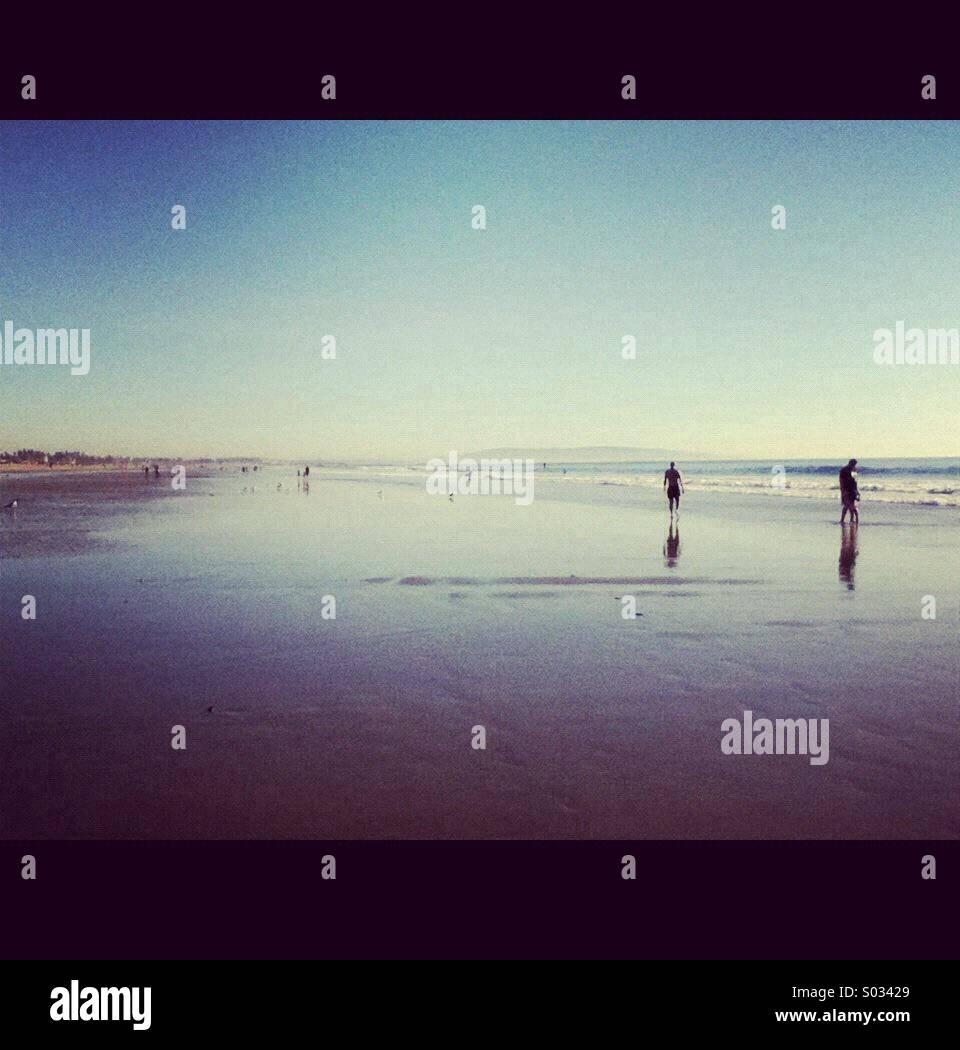 Santa Monica beach, Los Angeles, California, U.S.A Stock Photo