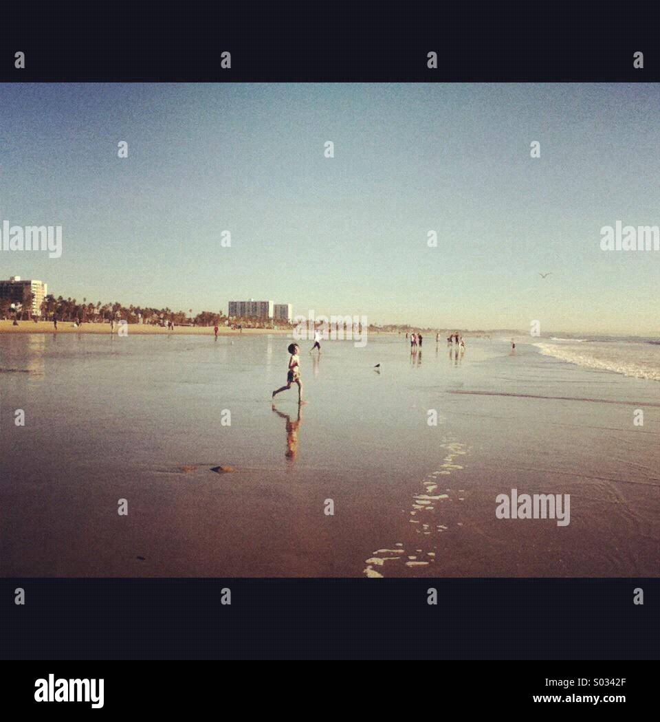 Santa Monica beach, Los Angeles, California Stock Photo