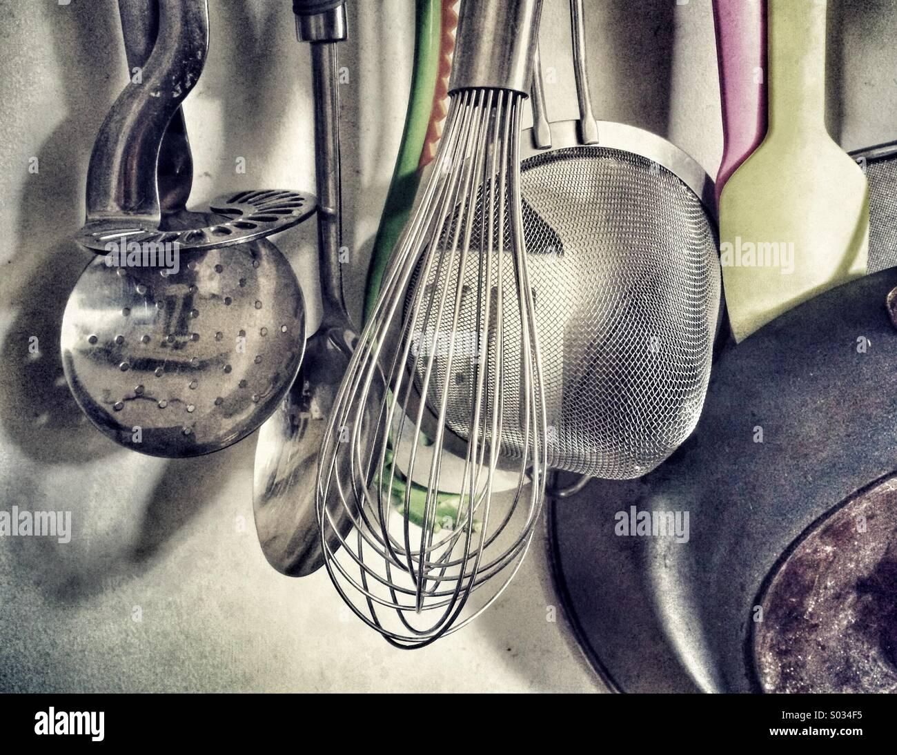 Kitchen Utensils. - Stock Image