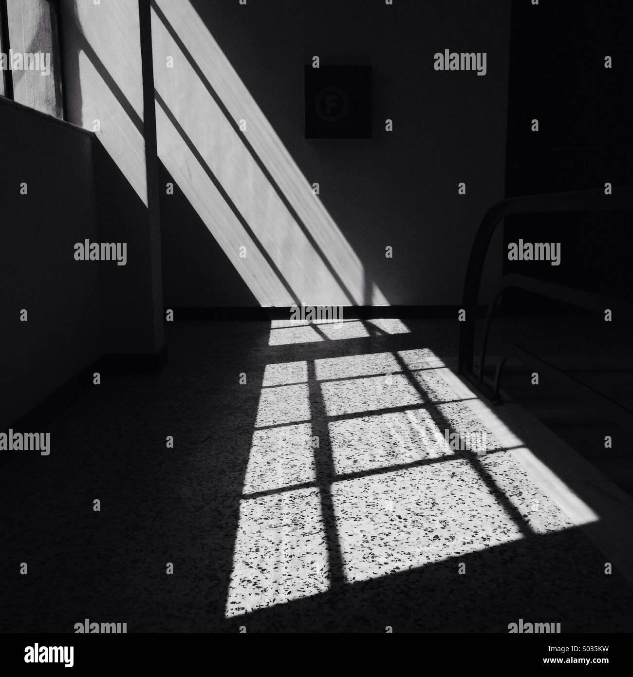 Sunlight through windows - Stock Image