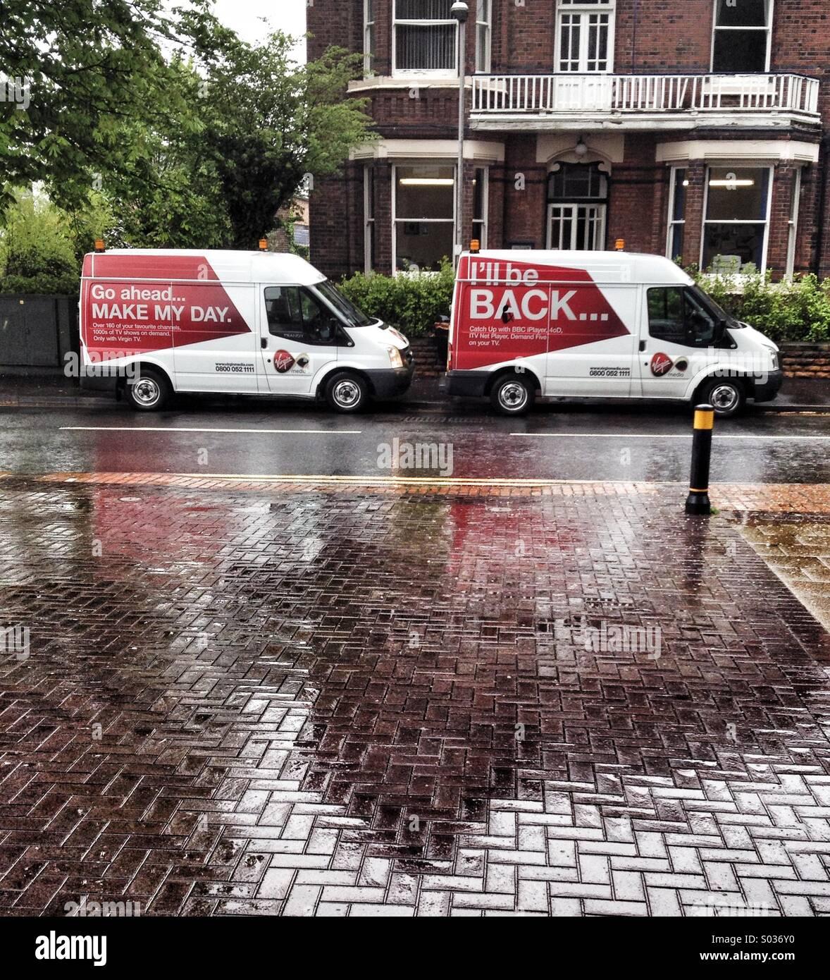 Broadband Vans - Stock Image
