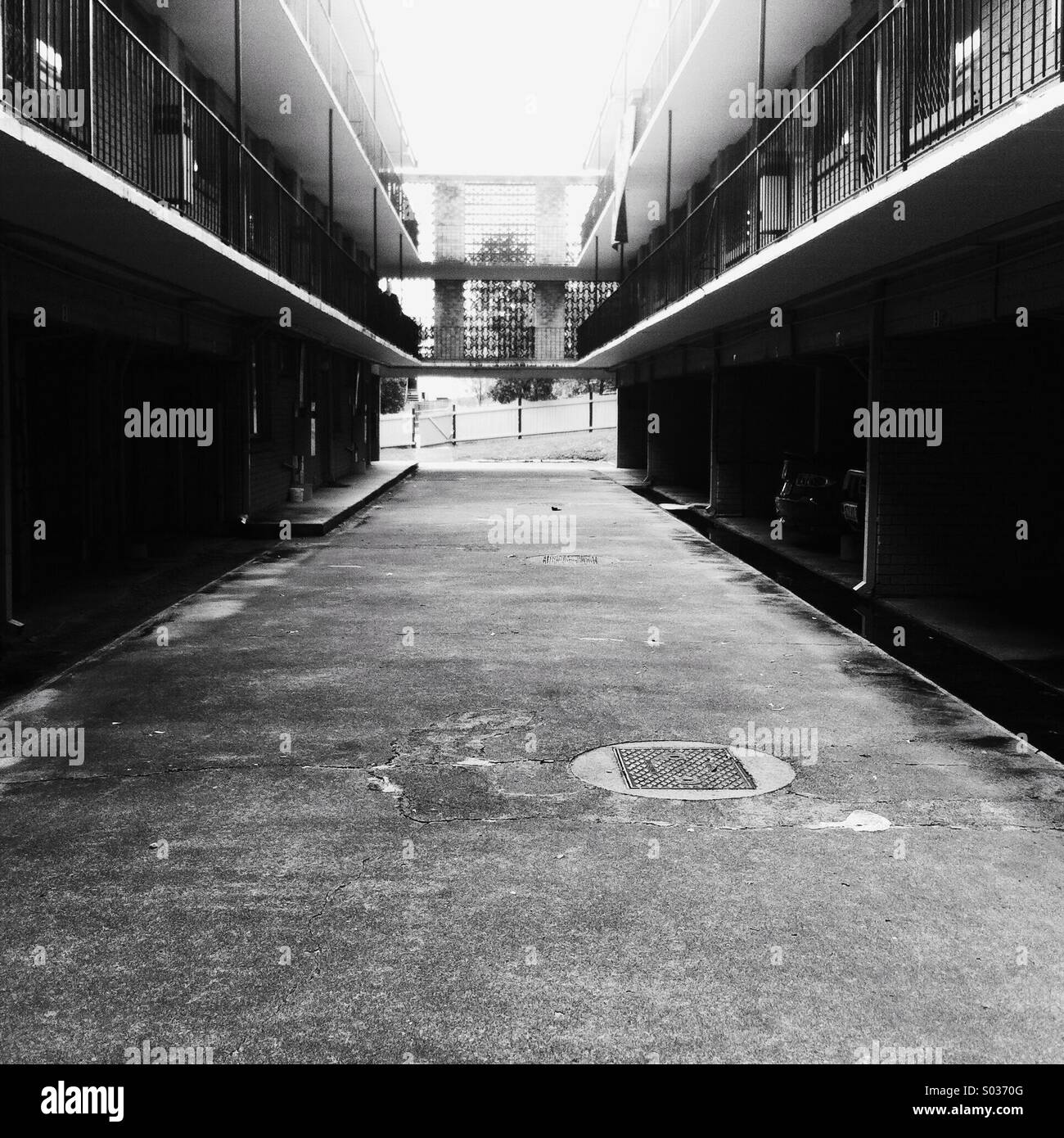 Deserted apartments - Stock Image