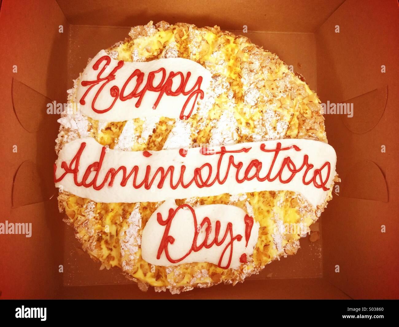 Happy Secretary's Day Cake - Stock Image