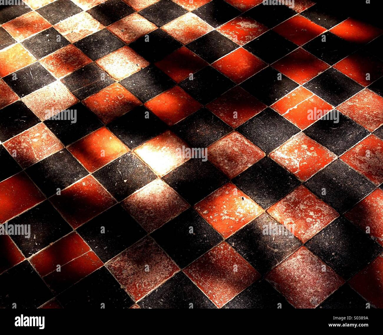 Tiled Floor - Stock Image