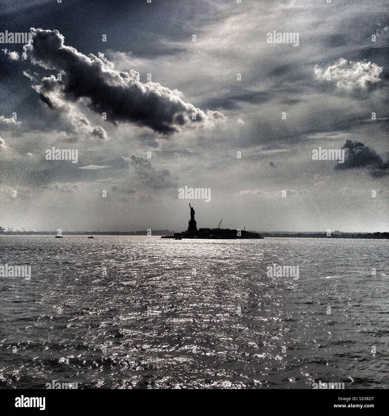 Statue of Liberty from the Staten Island Ferry. - Stock Image