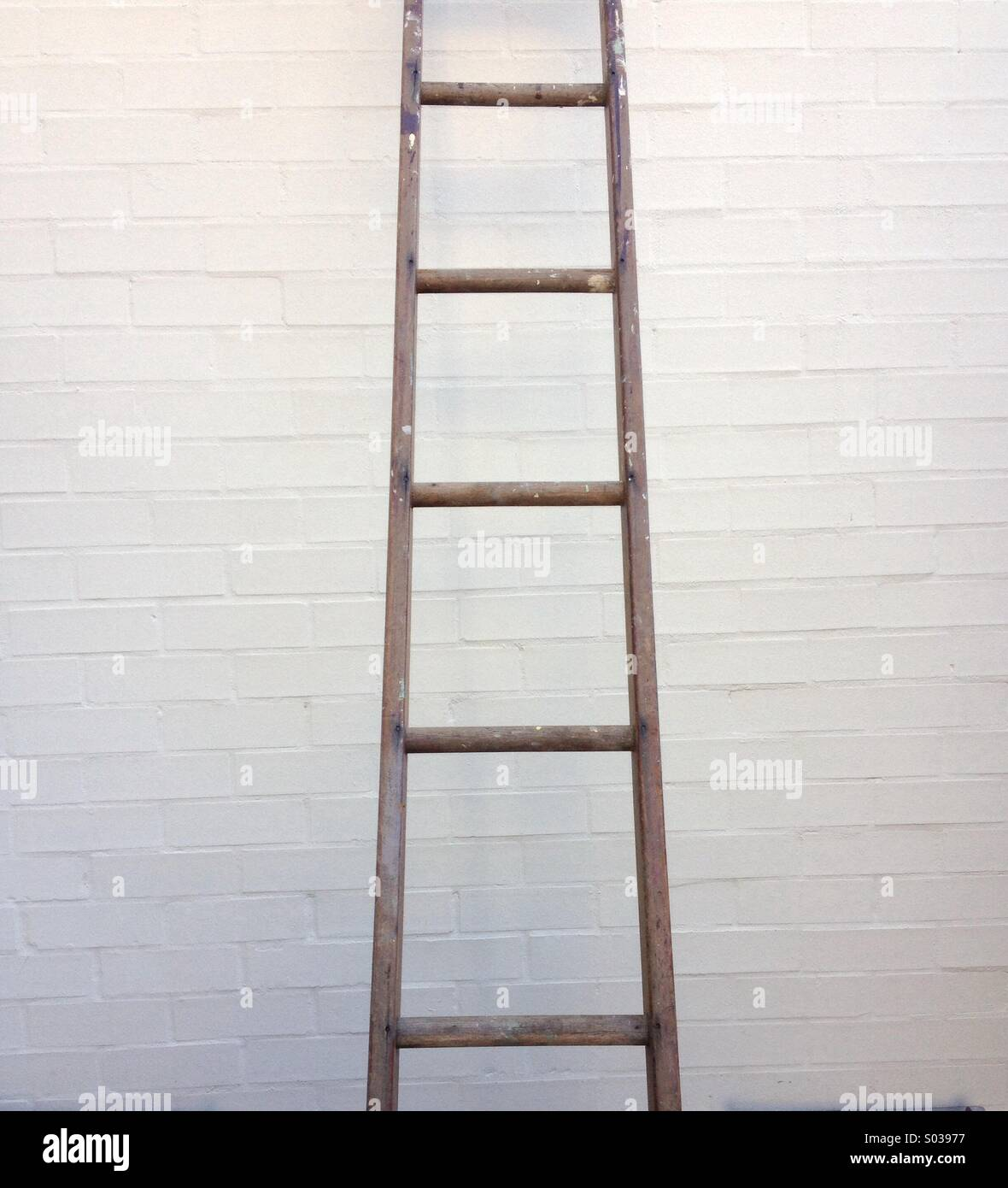 Wooden Ladder High Resolution Stock Photography And Images Alamy