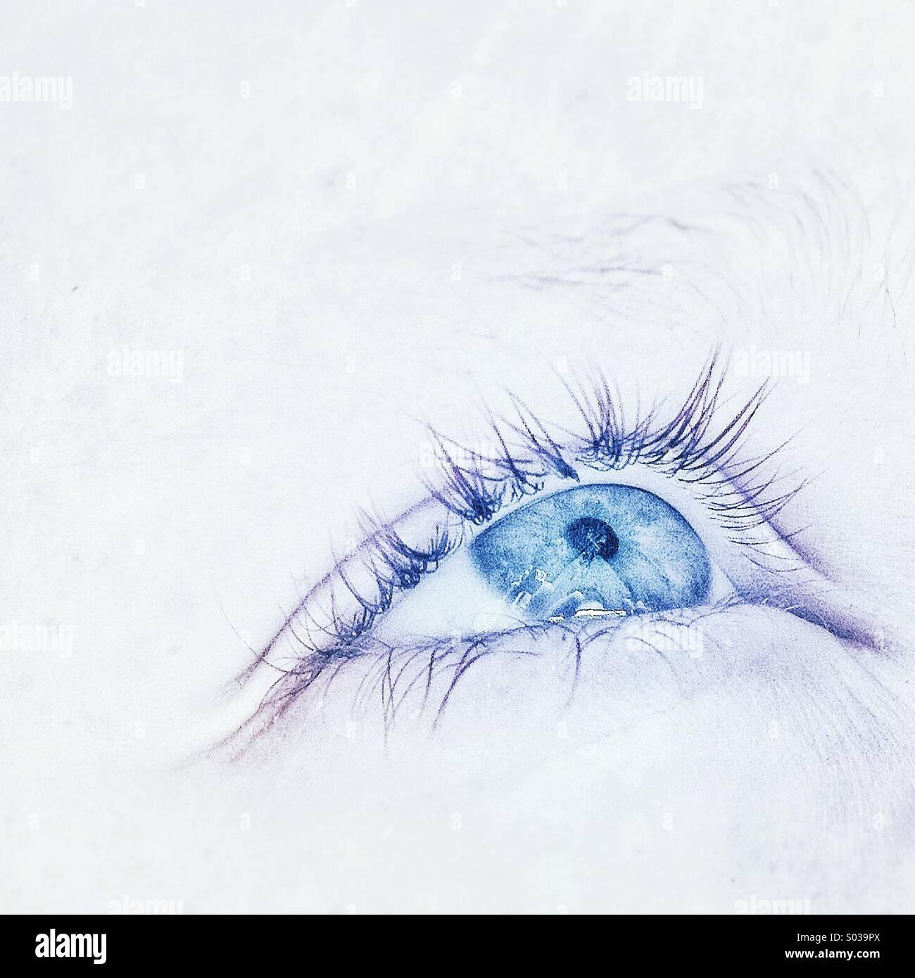 Blue eye - Stock Image