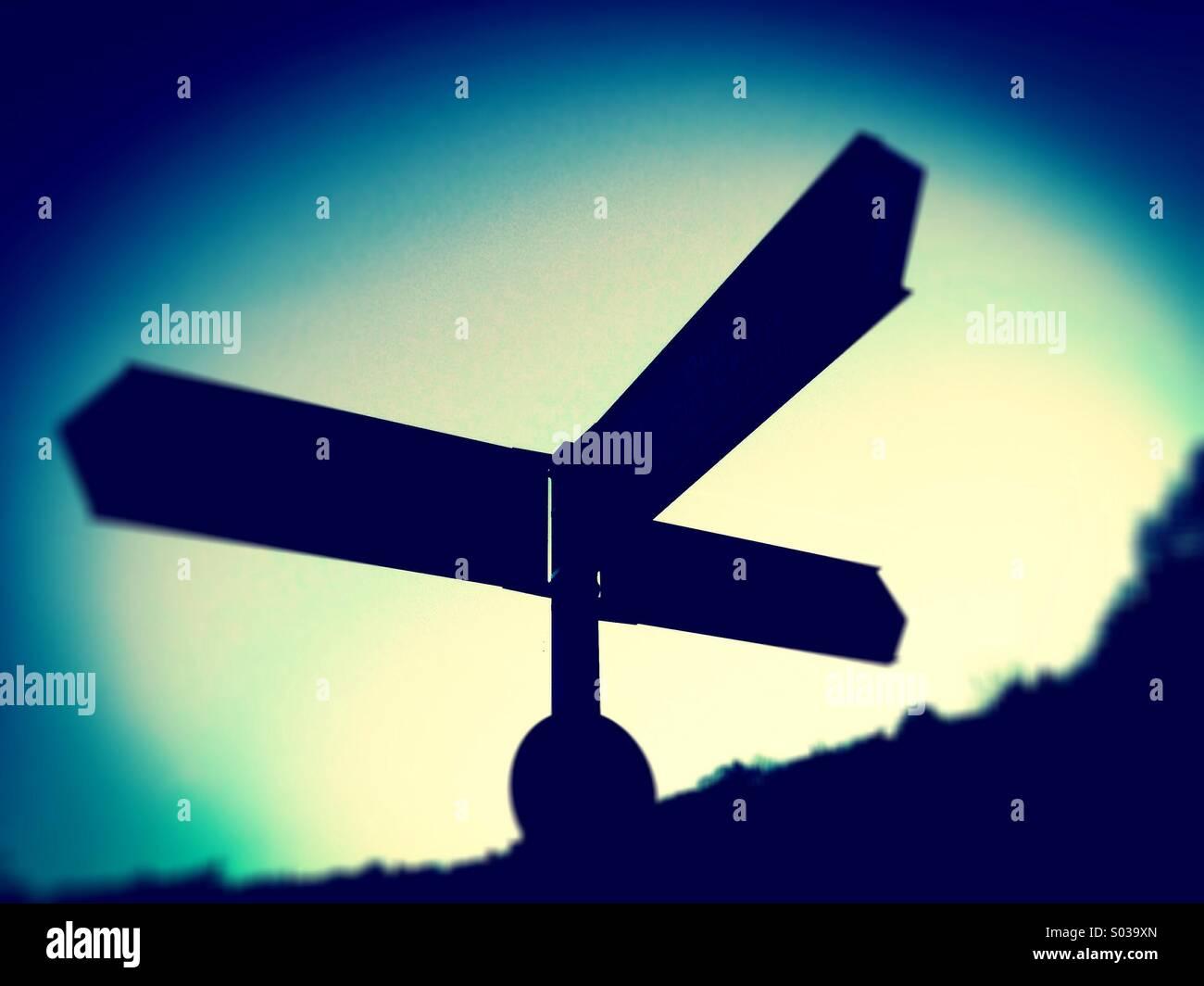 Signpost - Stock Image