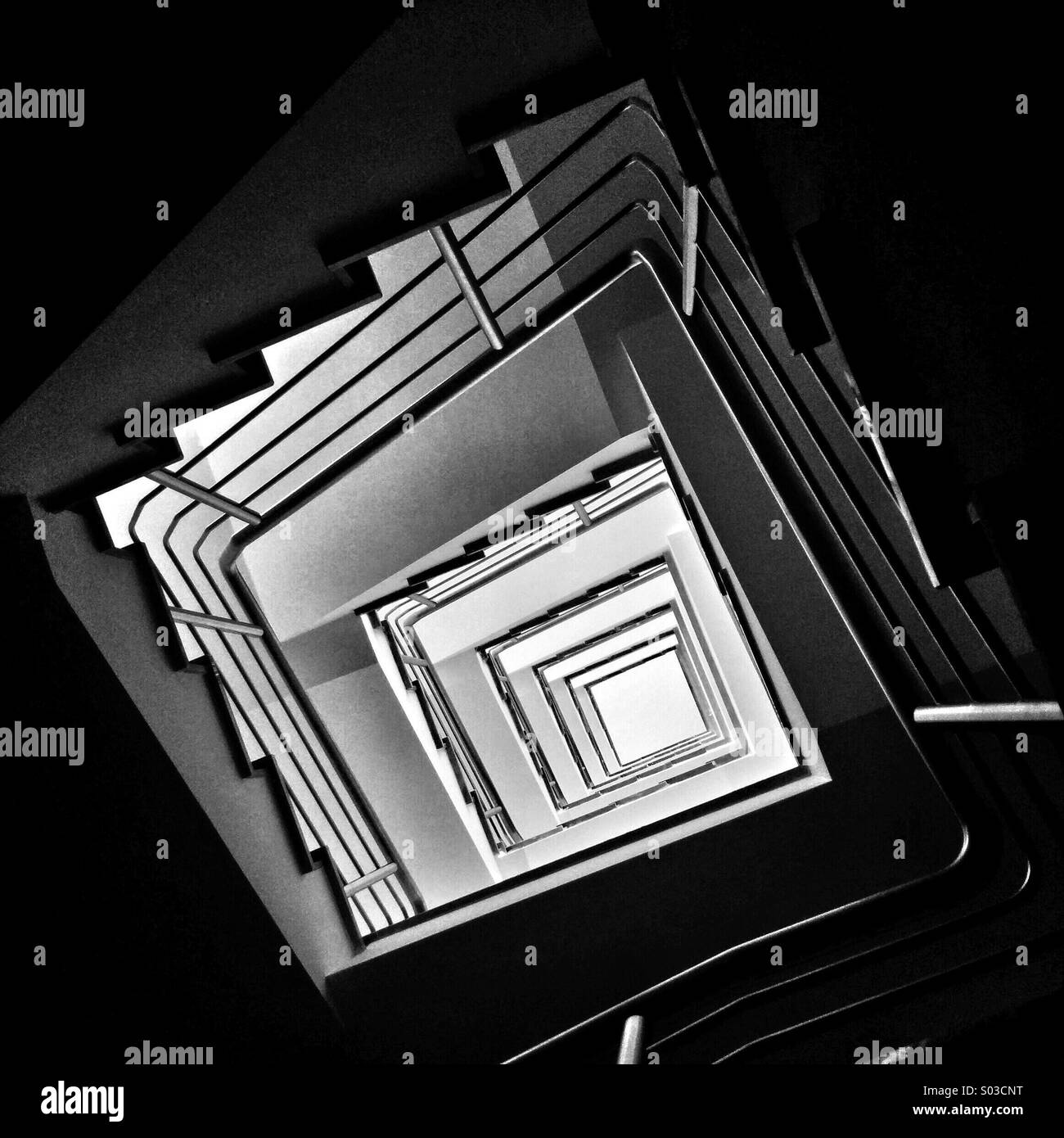 Staircase from below - Stock Image