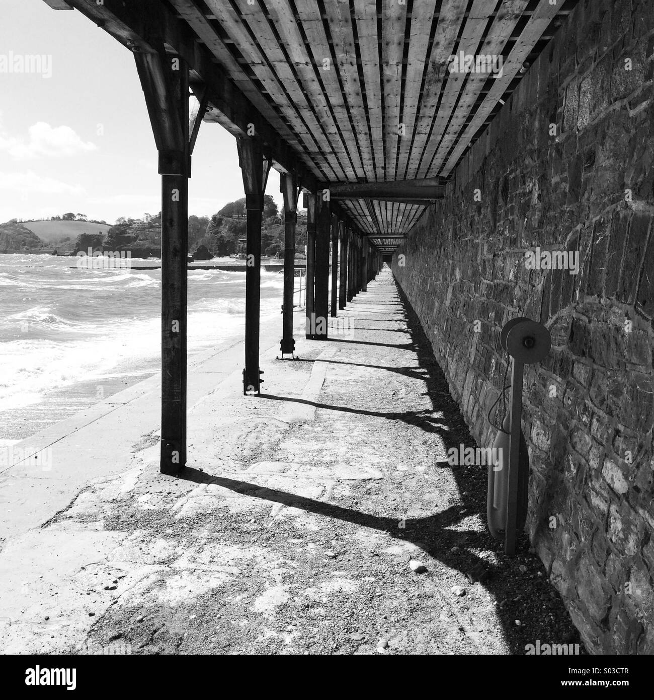 Beach wall - Stock Image