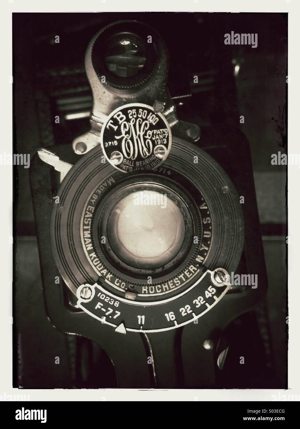 Old vintage Kodak film camera - Stock Image