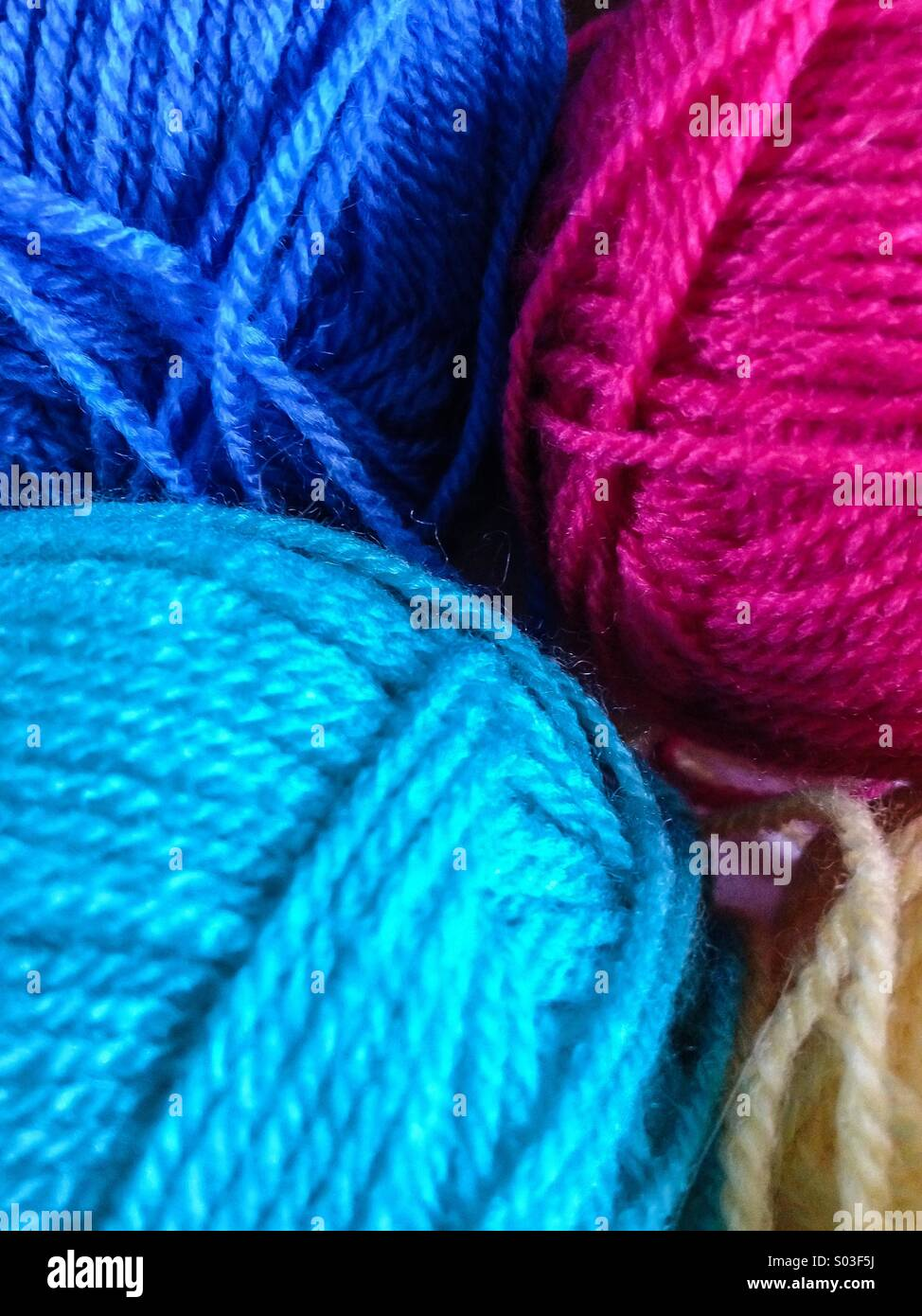 Colored skeins - Stock Image