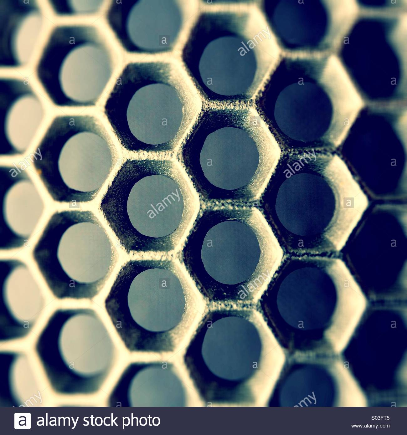 Hexagonal Grid - Stock Image
