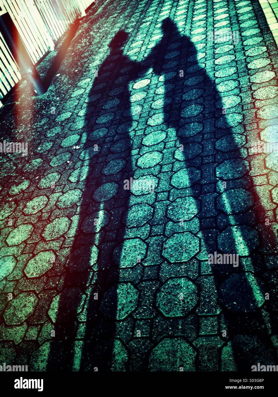 Shadows united - Stock Image
