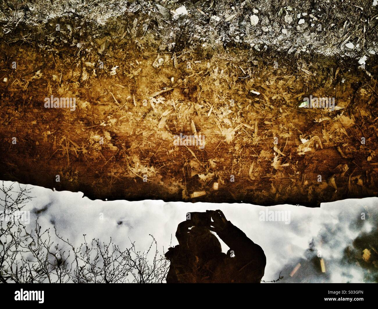 Water reflection - Stock Image