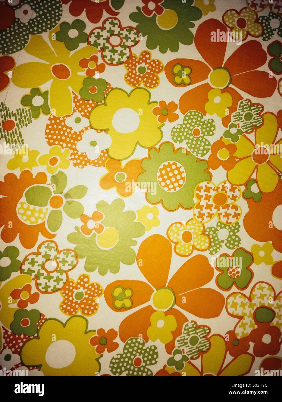 70s Floral Wallpaper Stock Photo 309866076 Alamy